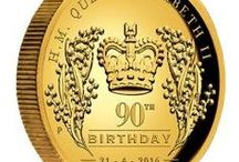 Monarchy and Royalty / Coins commemorating the service and achievements of The Queen and members of the Royal Family.