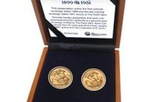 Australian Gold Sovereigns / Historic gold sovereigns and modern tributes to one of the world's most famous coins.