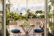 """Balcony, Terrace & Garden Design ❧ / """"Ludzka miłość zawiera się w tym, że dwie samotności nawzajem opiekują się sobą, łączą i żyją dla siebie""""."""