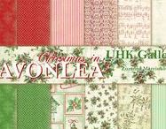 UHKGallery2017 - CHRISTMAS IN AVONLEA - scrapbooking paper collection