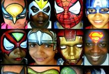 Face painting heroes and villains / The best hero face painting design ideas for inspiration / by The Face Painting School