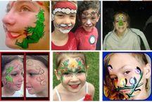 Face Paint Christmas / Christmas face painting ideas