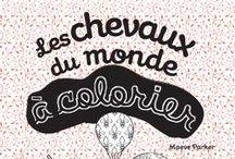 Les Chevaux du monde à colorier / Coloriage artistique des chevaux du monde, illustrée par Maeve Parker, aux éditions Graine2