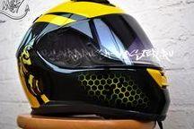 графика на шлемах / Мото шлемы с интересными рисунками