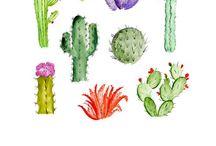 Plants (illustrated, paper) / Plants, Pflanzen, green illustrated