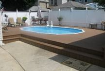 Semi In-Ground Pools / Whether it's a in-ground pool or a semi in-ground pool, Gus Pools has you covered with professional install and design service.