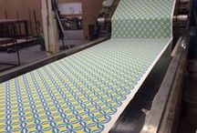 Printing our own wonderful fabric / We design and print all our own fabric using 100% certified organic cotton.
