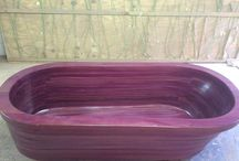 Wooden Baths by Wood4Africa / Purple Heart Wooden Bath CNC Tmber perfect