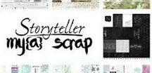 MyaScrap / MyaScrap ark Eget designet scrappepapir Lommescrapping på norsk Norsk design
