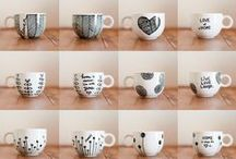 Dishware Design DIY / Enhance these ideas and come up with your own dishware designs.