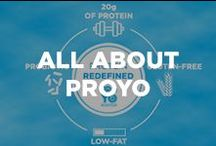 All about ProYo! / At ProYo, our passion led us to create a high protein frozen yogurt with real nutritional benefits, convenience, and above all great taste! Who knew 20 grams of protein and 140 calories could taste so good?