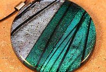 Fused glass jewelry / by wanda janik