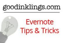 Evernote Tips & Tricks / Do you use Evernote? Here you will find great ways to incorporate it Evernote's power into your personal & business life. Board created by www.goodinkings.com #evernote #organization #timemanagement