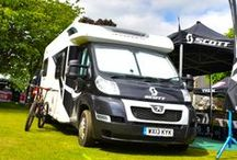 SCOTT Sports & Bailey / Bailey caravans & motorhomes are not just for holidays!  Their high performance Alu-Tech bodyshells provide greater protection against the elements making them great support vehicles for the SCOTT Sports Bike Teams.