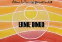 0906 Ernie Dingo / Despite his extensive film and television career, Ernie's other passion lies in art, being able to express himself and his journeys in life through creative means. Through painting, Ernie expresses his love for his Aboriginal culture, the memories of his people and country.