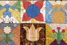 1718 coverlet / The oldest dated patchwork coverlet in Britain