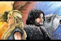 Fan de Séries, Geek Art / Game of Thrones, Breaking Bad, Walking Dead... Ce tableau regroupe mes illustrations sur les séries!!!