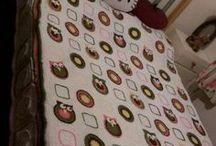 Stephanie's Owl Blanket / Stephanie's double bed size bedspread