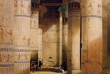 Inspiration for The Draughtsman's Daughter, Ancient Egyptian Romances #3 / An inspirational board for the romance novel, The Draughtsman's Daughter, a tomb-raiding romance mystery set in Ancient Egypt.