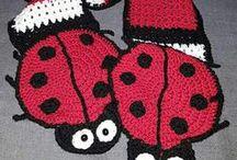 Lady Bug Scarf / Present for Liz