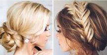 Boho bridesmaid hairstyles / boho, romantic wedding hair