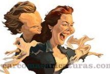 Cine y movies #caricaturas / #Caricaturas de #Carcoma de escenas famosas del #cine. Famous #movie scene #caricatures