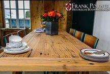 Inspiratie met oud hout / Een bord vol met prachtige interieurs met oud eiken balken, planken of vloerdelen.