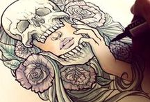 Tattoo Sketches  / Beautifully drawn sketches that work as a template for tattoo ideas. / by Laura Shup