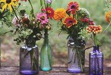 Vintage Bottles and Jars / Decor ideas using vintage glass bottles and jars