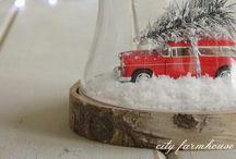 Kerst onder de stolp / Op een snelle manier een hele mooie kerstversiering.