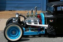 Hot Rods / Hot rods are typically old, classic American cars with large engines modified for linear speed.