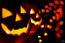 Jack O'Lantern / A jack-o'-lantern is typically a carved pumpkin. It is associated chiefly with the holiday Hallowe'en.