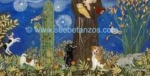 St. Francis Of Assisi | Sue Betanzos | Reverse Glass Painting / Reverse Glass paintings of St. Francis of Assisi animal pet memorials, animal portraits and more.