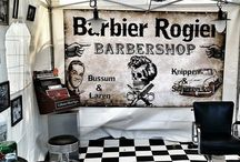 """Barber Shop / A barber's place of work is known as a """"barber shop""""."""