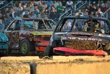 Demolition Derby / Demolition derby is a motorsport usually presented at county fairs and festivals.