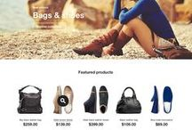 eCommerce Website Design / Attractive product displays, marketing spreads and eCommerce shopping site layouts.