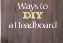 Headboards - DIY Repurposing Design / Creative repurposing / upcycling to make a #headboard.....