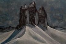 in the mountains - art / mountains and mountain landscapes in art