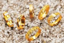 Textured Gold Rings / Explore our curated selection of artistically designed #rings in a variety of patterns and textures crafted in gleaming #22k #yellow and #two-tone #gold styles for women, men and children at rajjewels.com.  https://www.rajjewels.com/collections/collections/textured-gold-ring-s-for-women.html.