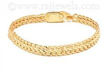 Men's Gold Bracelets / Fashionable gold jewelry isn't just limited to women.  Rajjewels.com has the latest on-trend #men's #jewelry including the ever popular timeless #bracelet.  Crafted in #22K #gold these must-have gold #bangles (#Punjabi #kadas), bracelets and #Rudraksha #jewelry styles can be worn casually #everyday, with #work attire or #specialoccasions .   Check out our variety of styles -  https://www.rajjewels.com/jewelry-jewellery/bracelets/men-s-bracelets.html