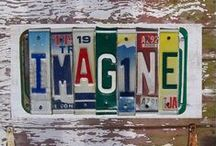 License Plate Upcycles! / Some different ways to #reuse & #repurpose old #licenseplates instead of trashing them!  #DIY #Upcycle #Recycle
