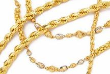 Gold Chains / Continuous strands of #22kgold in #yellow and white #rhodiumfinish are created into various  #goldchain designs  for #women #men and #kids: Decorate your neckline by visiting our online store here: https://www.rajjewels.com/jewelry-jewellery/chains/gold-chains.html