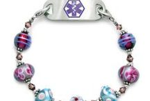 Beautiful Medical ID Bracelets for Diabetes, Heart Disease, Lymphedema, etc... / Medical ID Bracelets that are fashionable and are for people who have medical problems like diabetes, Alzheimer's, allergies (food, medicines,bee stings, etc.), heart problems (stents, by-passes, A-Fib, Pacemakers, etc.), gastric bypasses, and more... You can call us at 847-638-2223 if you need any help or want to order by phone. See our stylish bracelets (over 500 designs) for men, women and teens at  https://medicalidfashions.com/store/categories