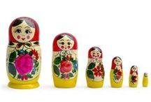 Russian Matryoshka Nesting Dolls / Nesting Dolls, Russian Nesting Dolls, Matryoshka dolls, Stacking Dolls, Semenov Doll, Hand painted nesting dolls, Nested dolls  / by BestPysanky Inc