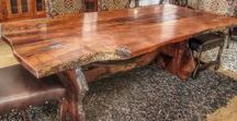 Custom Wood Dining Creations / Top-of-the-line rustic dining tables. 100% solid mesquite and alder wood. Custom-made doors, beautiful handmade bedroom sets, coffee tables, consoles and more.