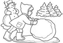 Omaľovanky - zima