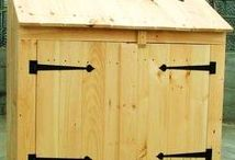 Garbage + Recycling. JCS / Optimizing home organization with our sturdy, attractive designs. Available as shed kits, diy storage shed plans ($9.95-$49.95) + fully assembled garbage + recycling containers in the northeast. You can call our in house staff at our toll free number 1-866-297-3760 for questions Monday - Friday 8-5pm, Saturday 9-4 + Sunday by chance or appointment. Eastern Standard Time. Or email design@jamaicacottageshop.com