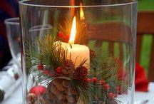 Candles and fruits decorated / by Martha Stella Valderrama Bolivar