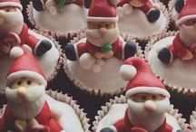 Xmas Cupcakes / Decorating cupcakes with sugarpaste / fondant