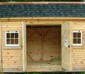 Sheds. FA. JCS / Fully Assembled Sheds ship within 200 miles of our location in southern Vemont. Many options are available. In house staff is available toll free (1-866-297-3760) Monday - Friday 8-5pm, Saturday 9-4 + Sunday by chance or appointment. Eastern Standard Time. Or email design@jamaicacottageshop.com
